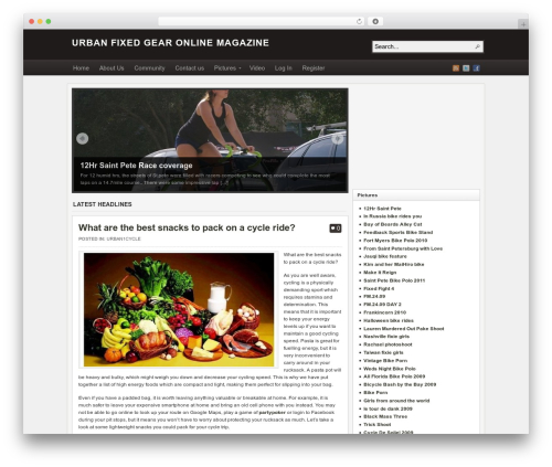 Arras premium WordPress theme - urban1cycle.com