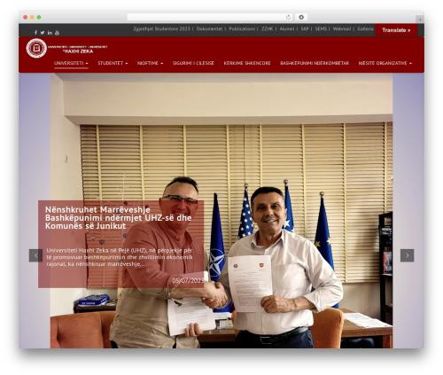Arsim WordPress website template - unhz.eu