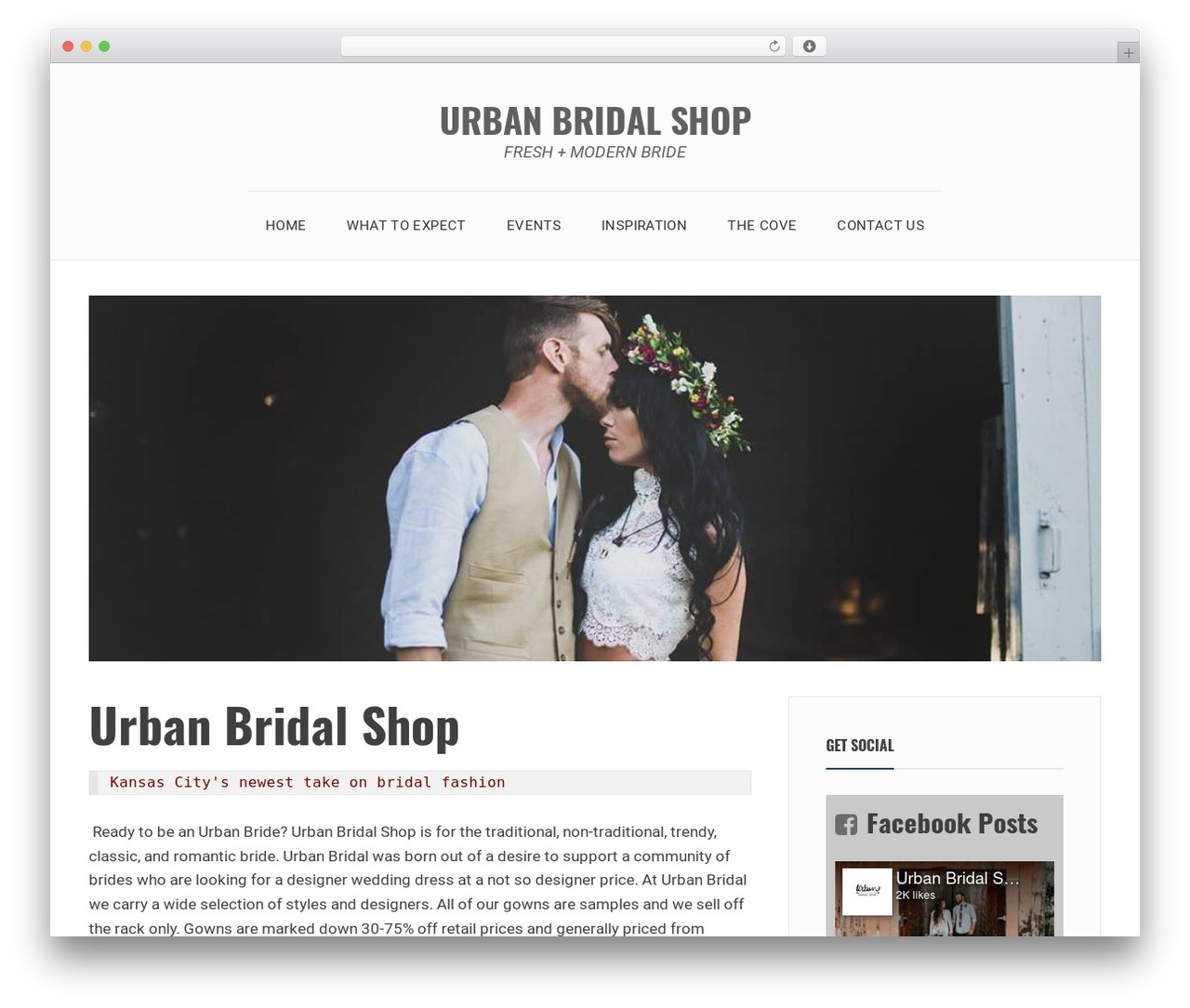 Avani WordPress theme download - urbanbridalshop.com