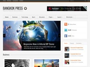 Bangkok Press WordPress page template