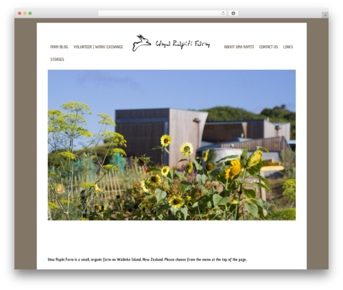 base theme WordPress - umarapitifarm.co.nz