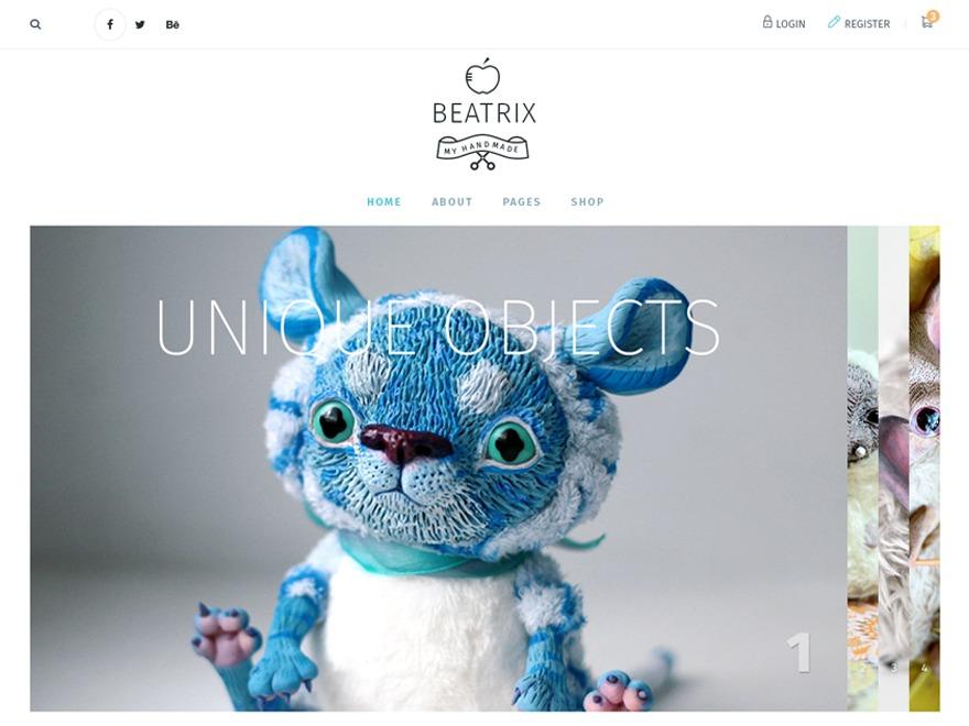 Beatrix WordPress page template