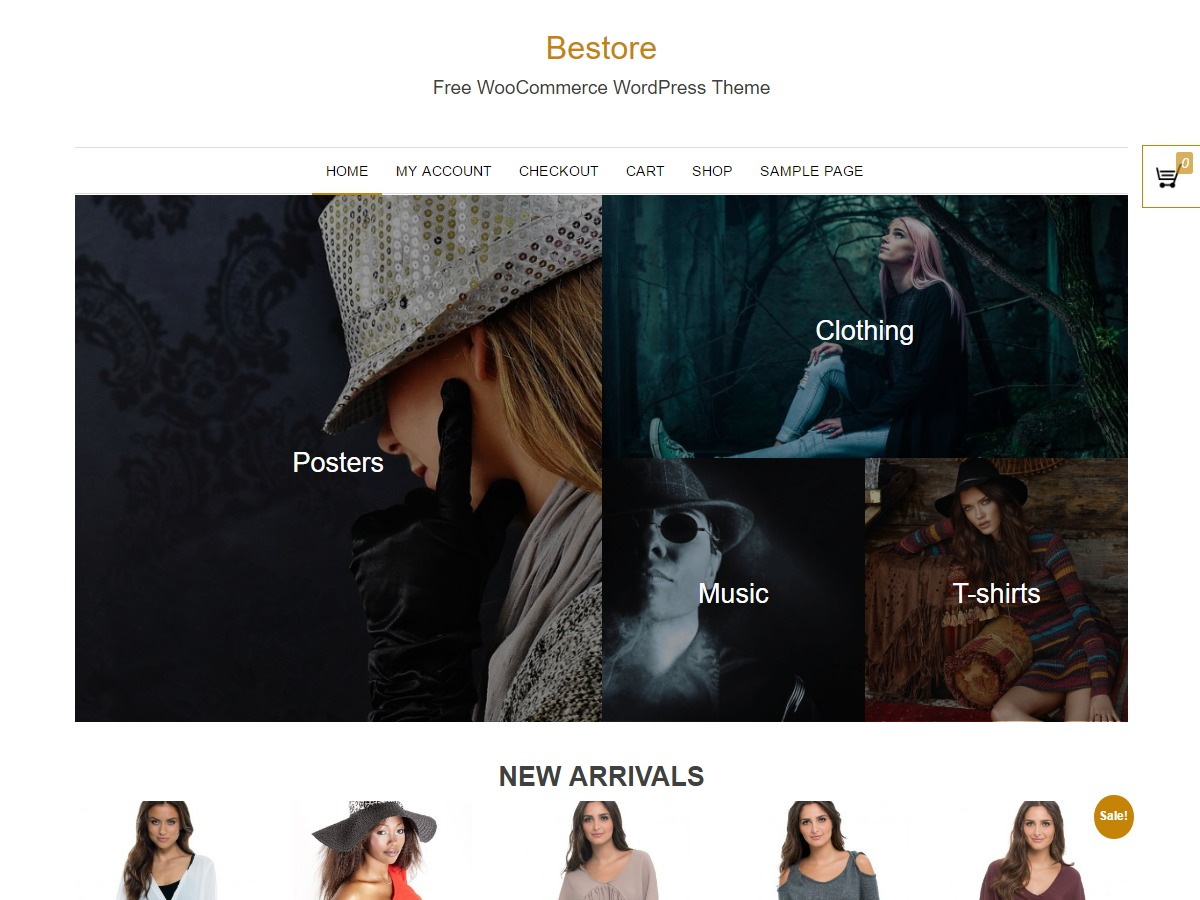 Bestore free WordPress theme
