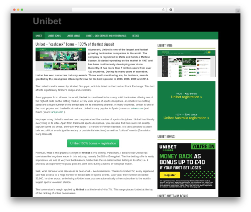 BizPoint free WordPress theme - uni-en.com