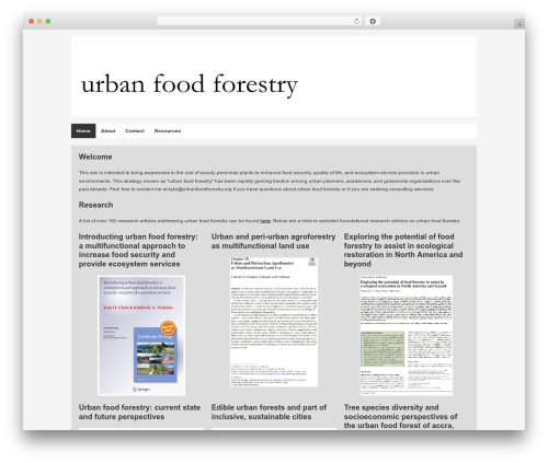 Builder WordPress theme - urbanfoodforestry.org