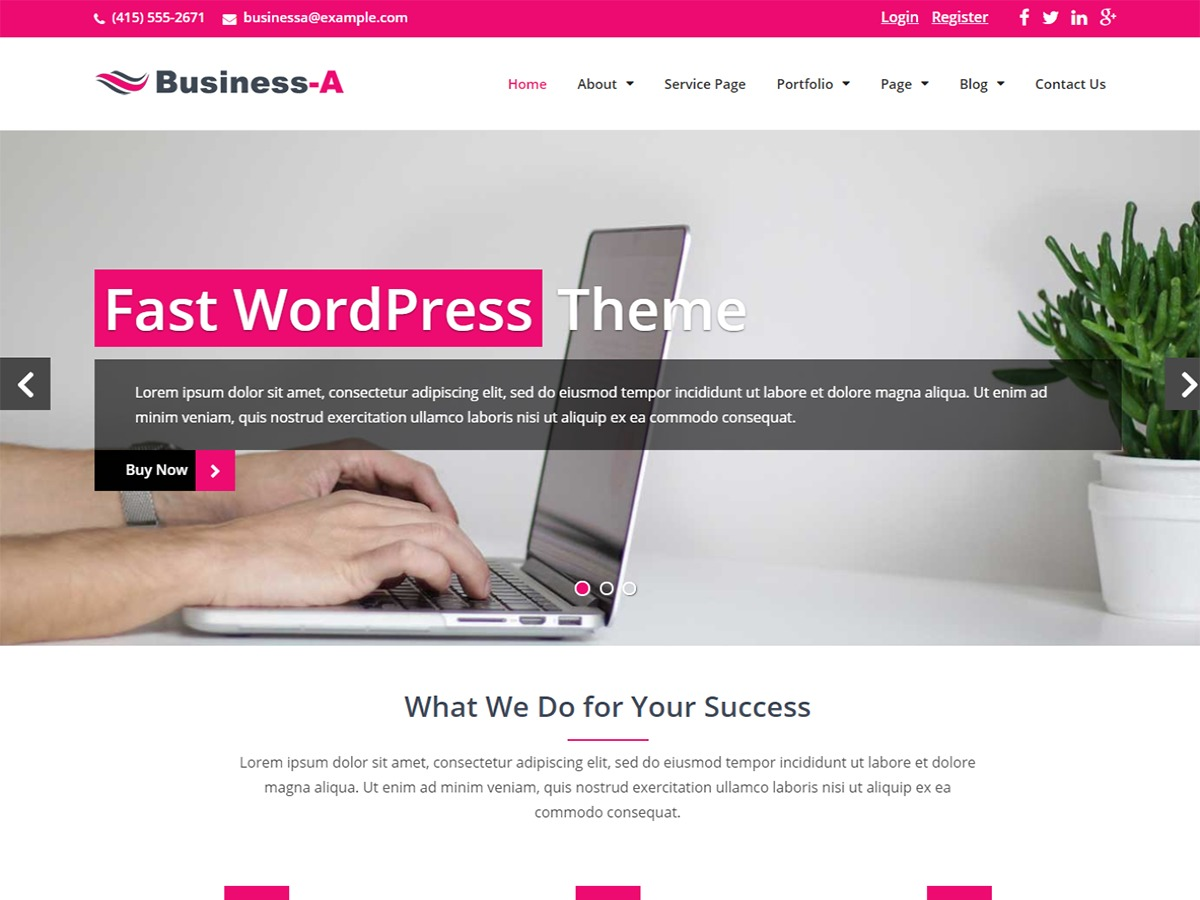 Business-A WordPress ecommerce template