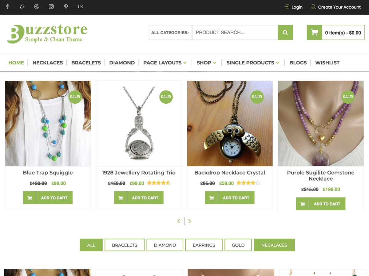 BuzzStore WordPress shop theme