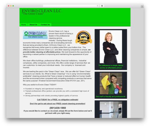 Catalyst WordPress website template - utahjanitorialservices.com