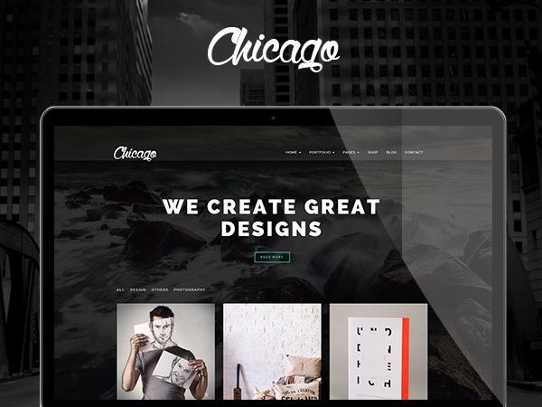 Chicago (shared on wplocker.com) WordPress theme
