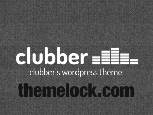 Clubber (shared on themelock.com) WordPress page template
