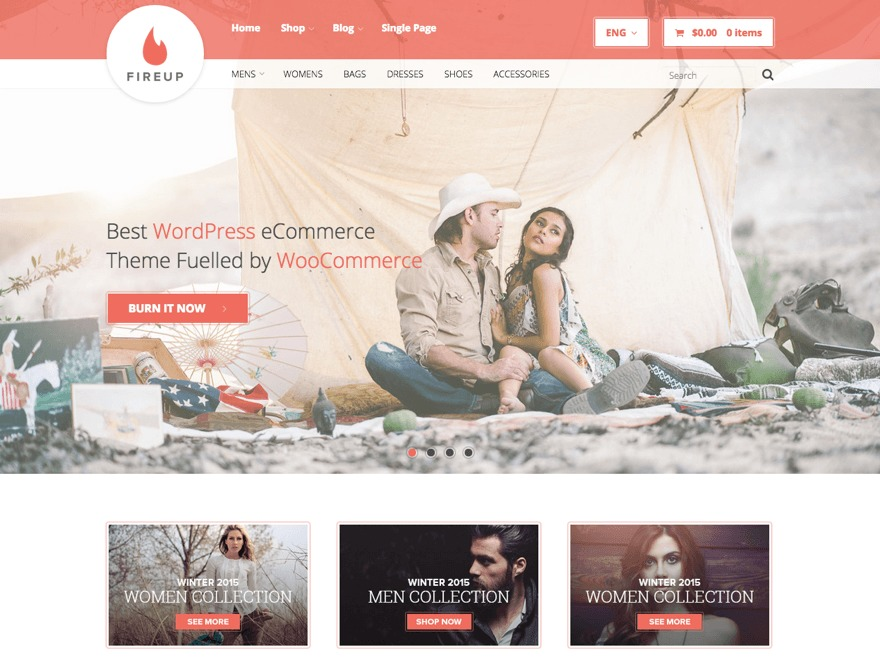 FireUp WordPress shop theme