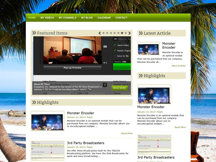 Florida WordPress blog theme