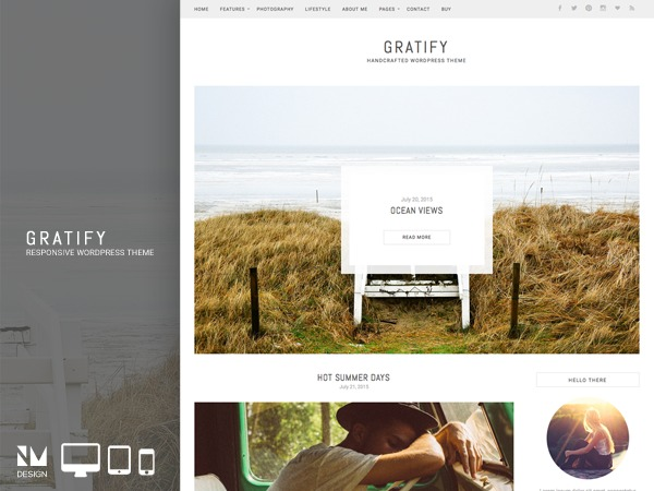 Gratify premium WordPress theme
