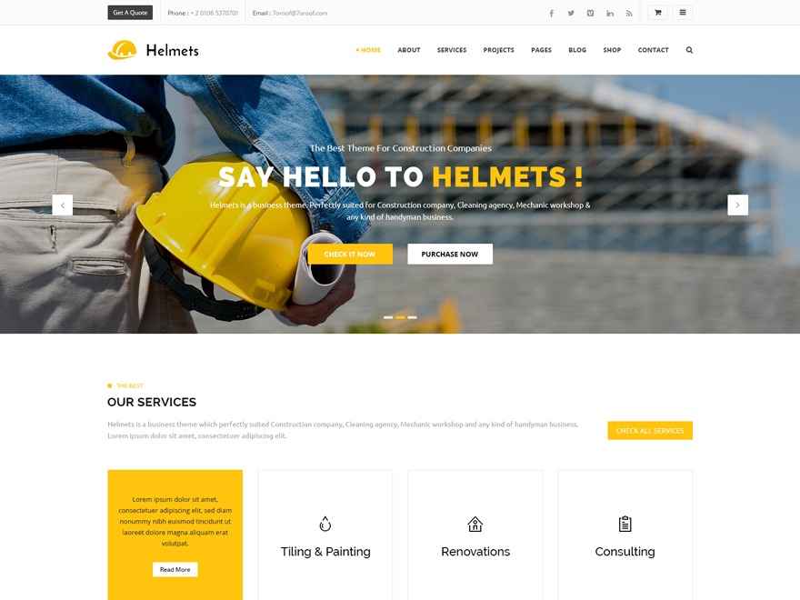 HELMETS WordPress ecommerce theme