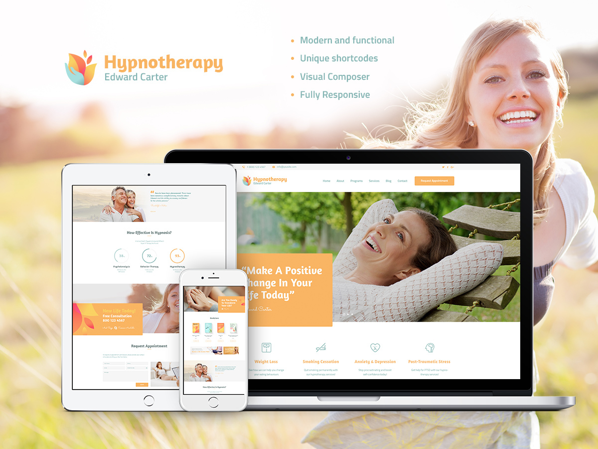 HypnoTherapy WordPress blog theme