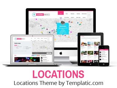 Locations top WordPress theme