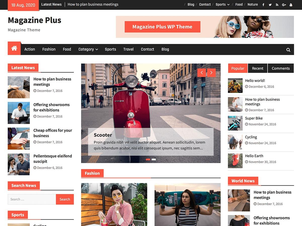 Magazine Plus WordPress theme download