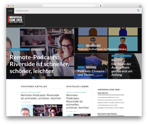 Massive News top WordPress theme - universal-code.de