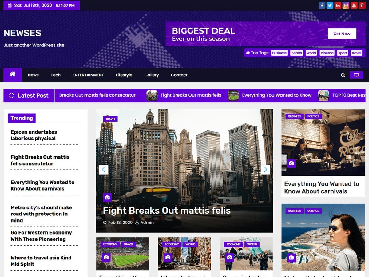 Newses WordPress news theme