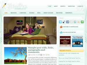 NicePen WordPress blog template