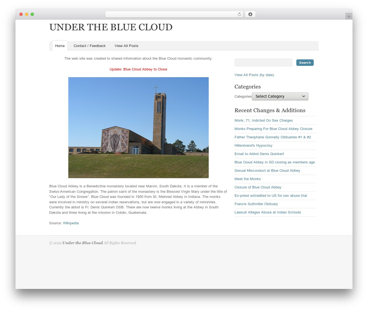 Oracle WP theme - underthebluecloud.com