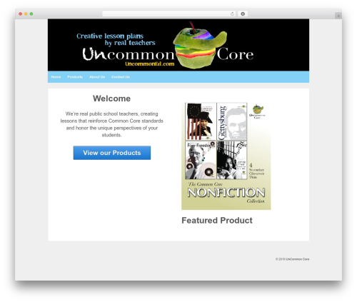 Responsive template WordPress free - uncommoned.com