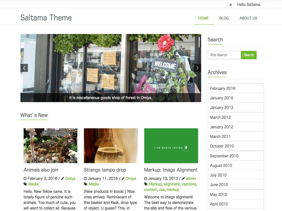 saitama WordPress template free