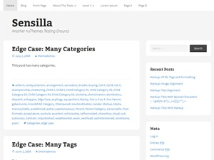 Sensilla best WordPress theme