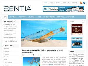 Sentia WordPress theme design