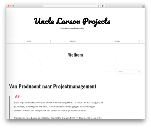 Shadower WordPress website template - unclelarson.com