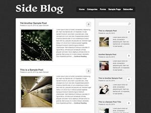 Side Blog WordPress blog theme