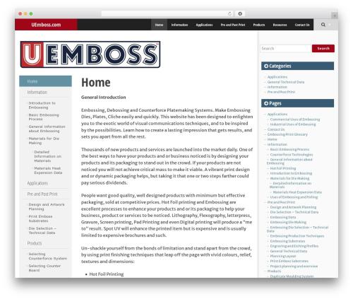 SmartAdapt free WordPress theme - u-emboss.com