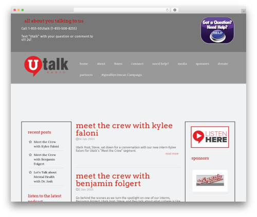 StrongHold WordPress theme - utalkradio.com