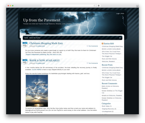 Theme WordPress BlueMoD - upfromthepavement.com