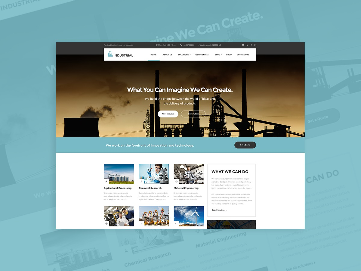 Theme WordPress Industrial Child