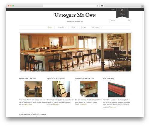 Theme WordPress Maya Shop - uniquelymyown.com