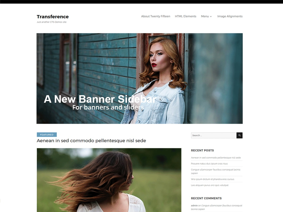 Transference WordPress blog template