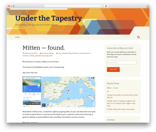 Twenty Thirteen WordPress page template - underthetapestry.com
