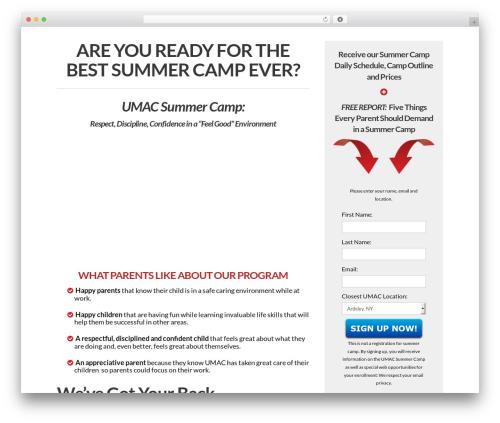 WordPress x-shortcodes plugin - umaccamp.com