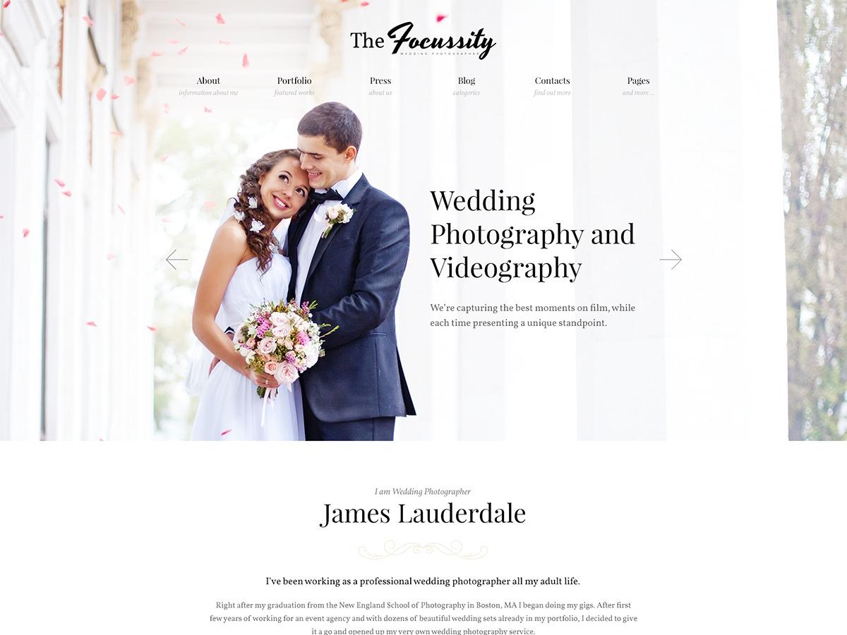 Wedding Focussity best wedding WordPress theme