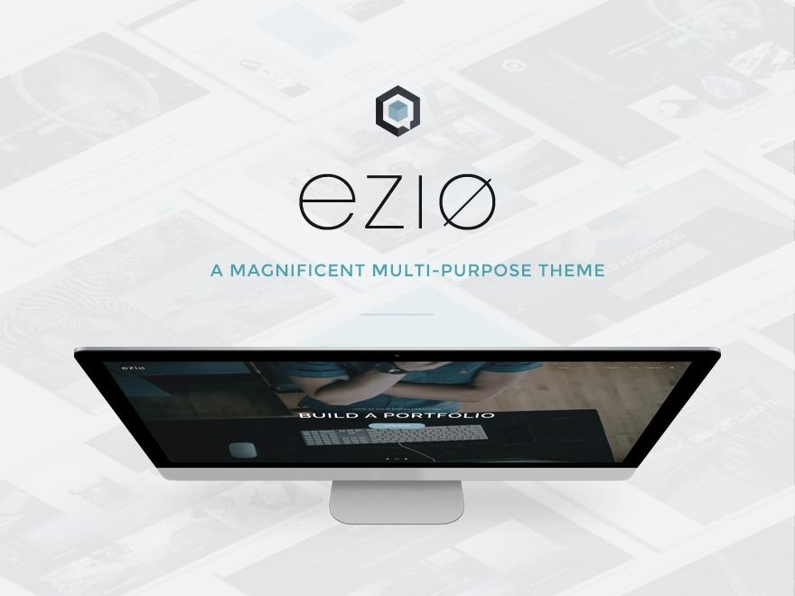 WordPress template Ezio Qube