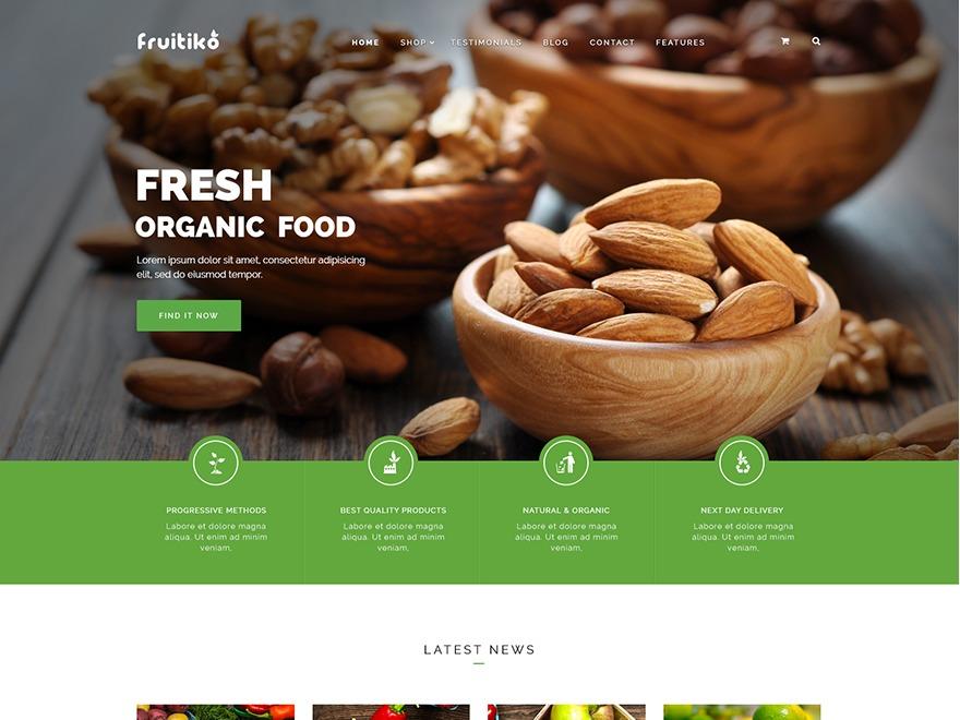 WordPress template Organic Life Child