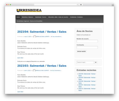 WordPress theme Responsive - urresbidea.com