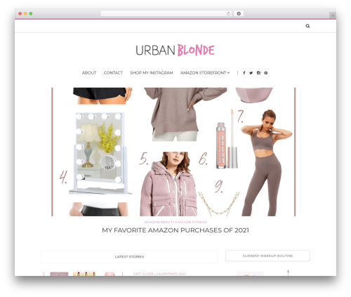 WordPress theme Solstice - urbanblonde.com