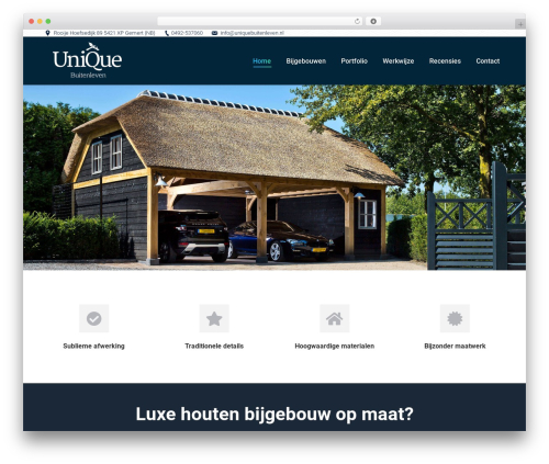 WordPress theme The7 - uniquebuitenleven.nl