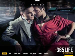 WordPress website template 365Life