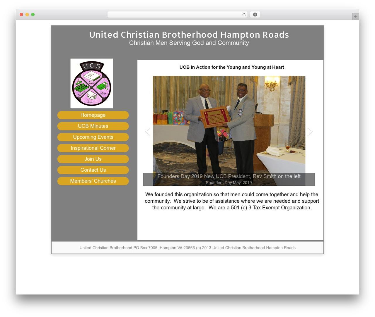 WordPress website template Catalyst - ucbhr.com