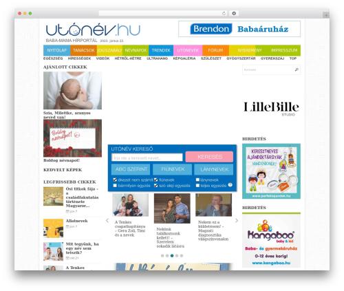 WordPress website template Eris - utonev.hu