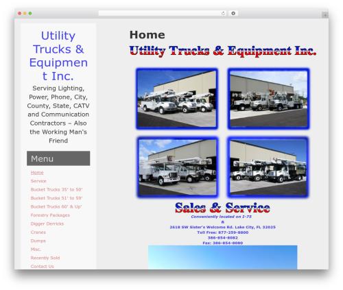 WordPress website template Left Side Child - utilitytrks.com