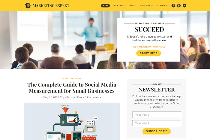 WP template Marketing Expert
